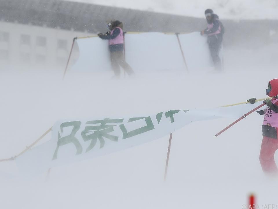 Wind und Schneefall machten Rennen unmöglich