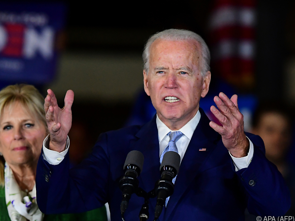 Aufwind für den demokratischen Präsidentschaftskandidaten Joe Biden