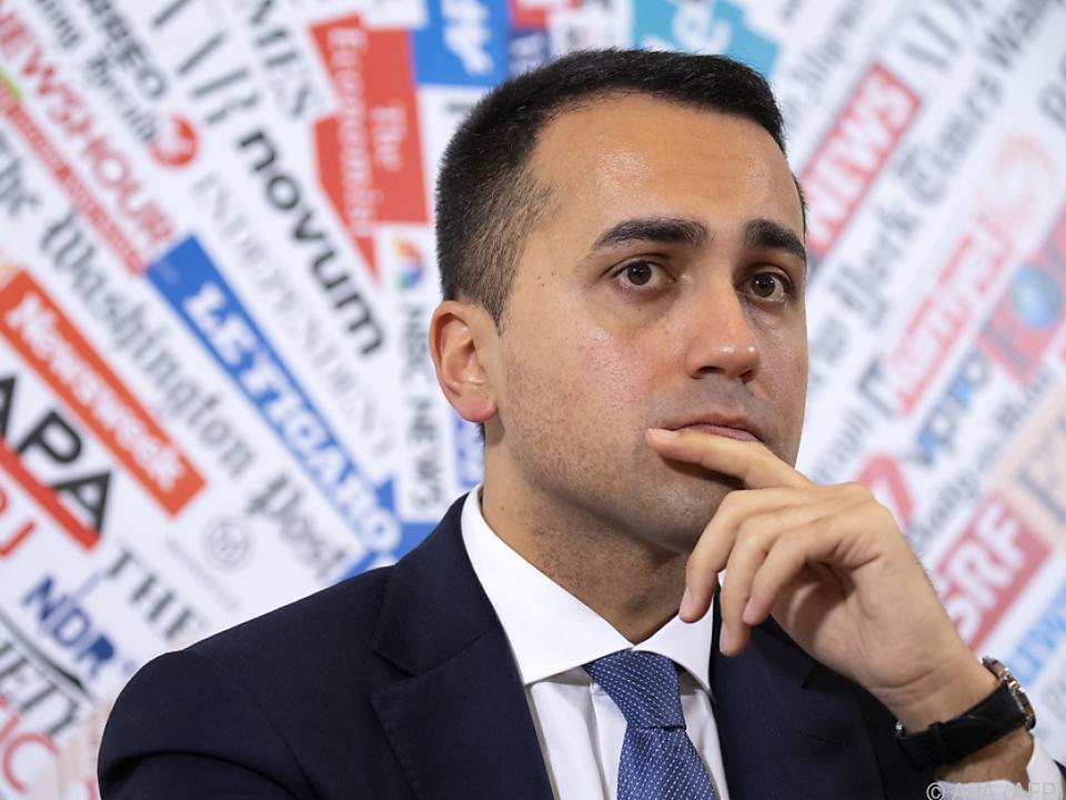 Außenminister Luigi Di Maio: \