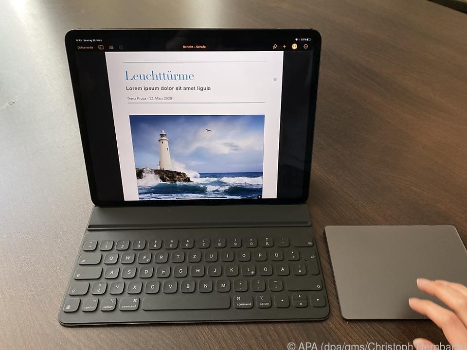 Das neue iPad Pro kann nun auch mit einem Trackpad gesteuert werden