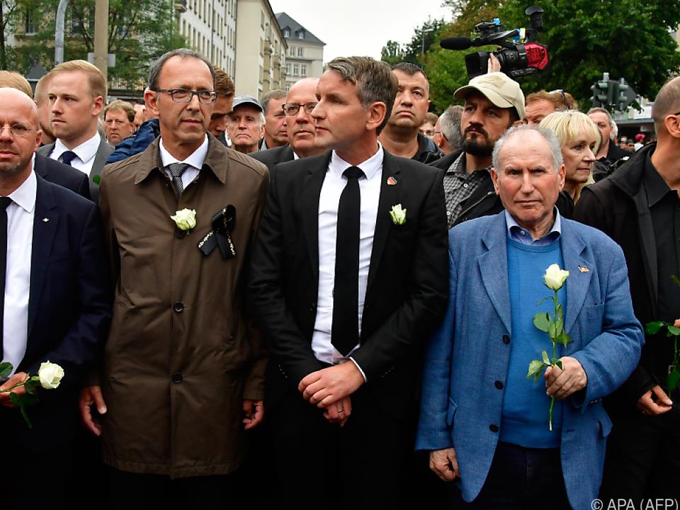 Björn Höckes (m.) AfD im Visier des BfV