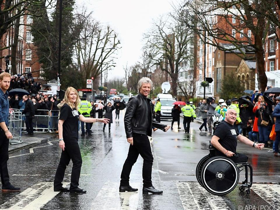 Bon Jovi und Harry posierten gemeinsam in der Abbey Road