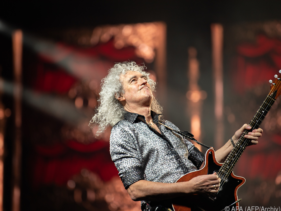 Brian May in seinem Element
