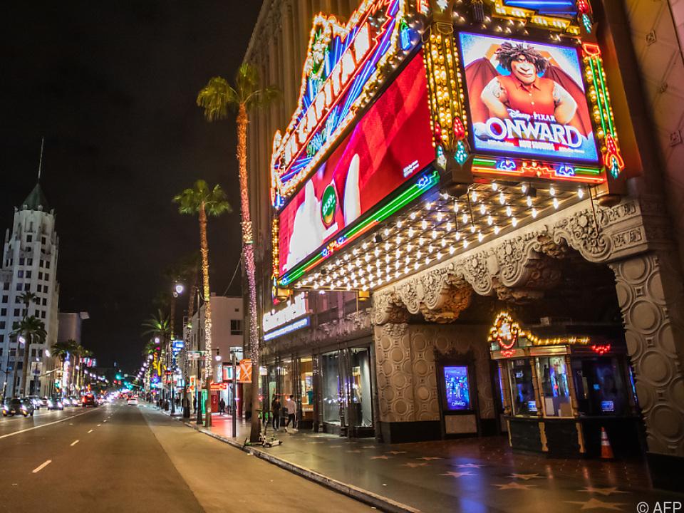 Das El Capitan Theatre in Hollywood - schlechte Zeiten für Kinofilme