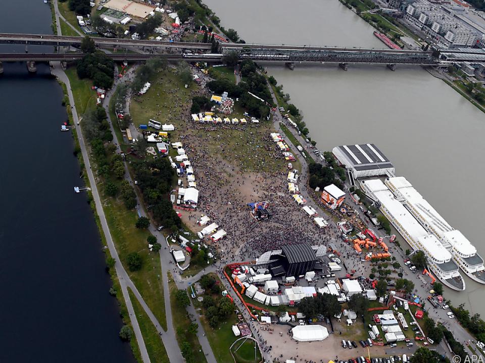 Das Großevent lockt jedes Jahr zahlreiche Besucher auf die Donauinsel