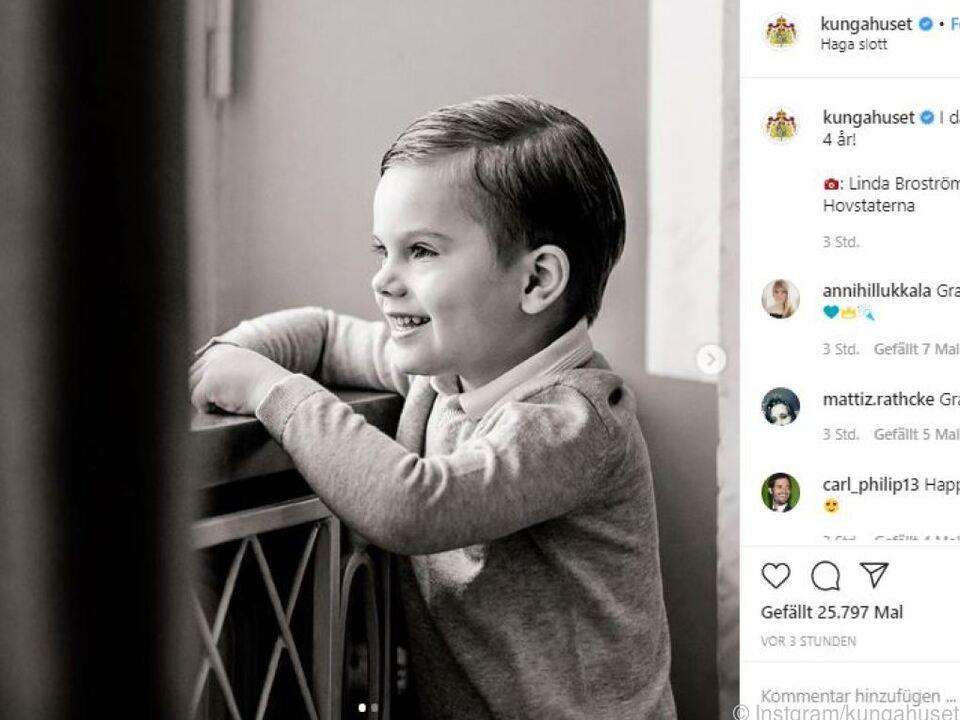 Das Königshaus veröffentlichte neue Fotos von Oscar