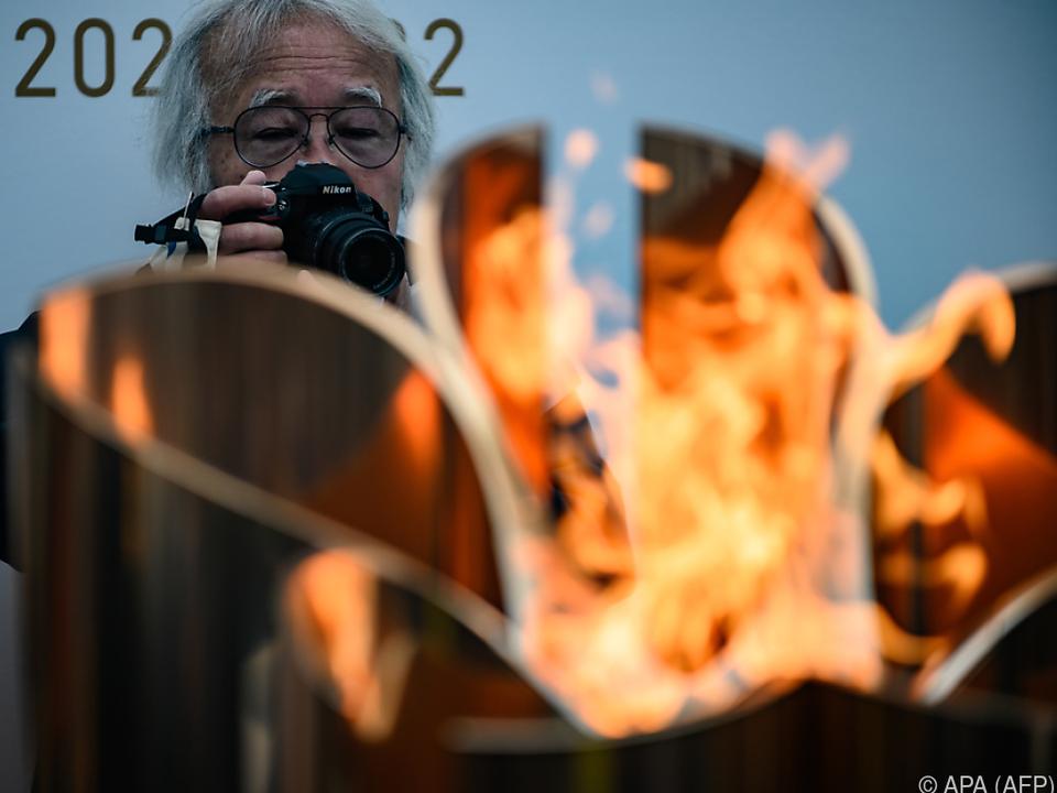 Das Olympische Feuer kam am Freitag in Japan an