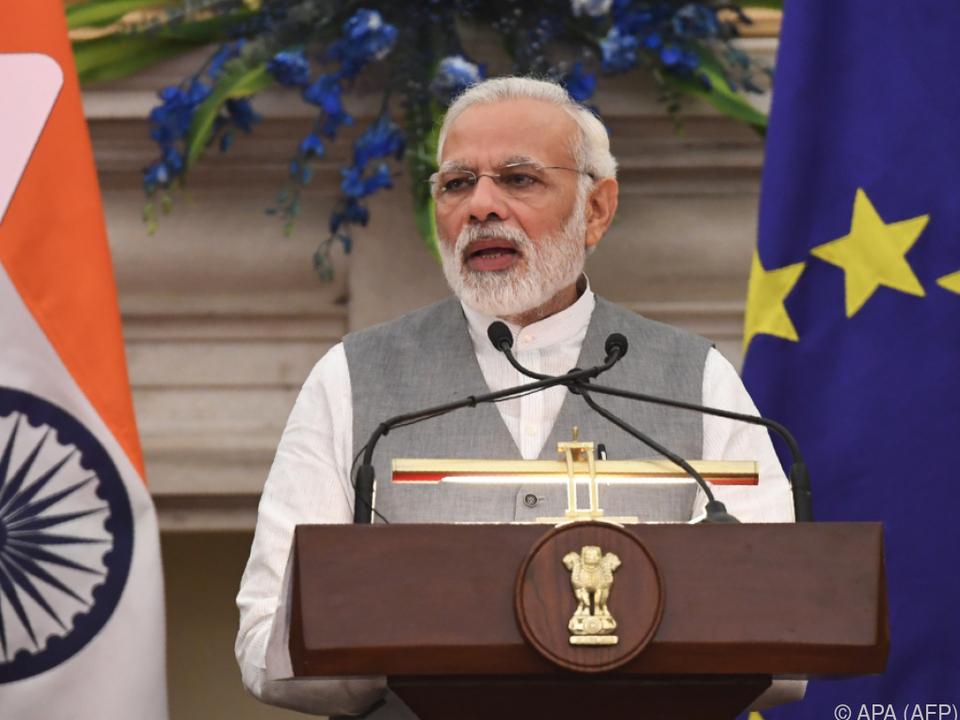 Der Gipfel mit Premierminister Narendra Modi soll später stattfinden