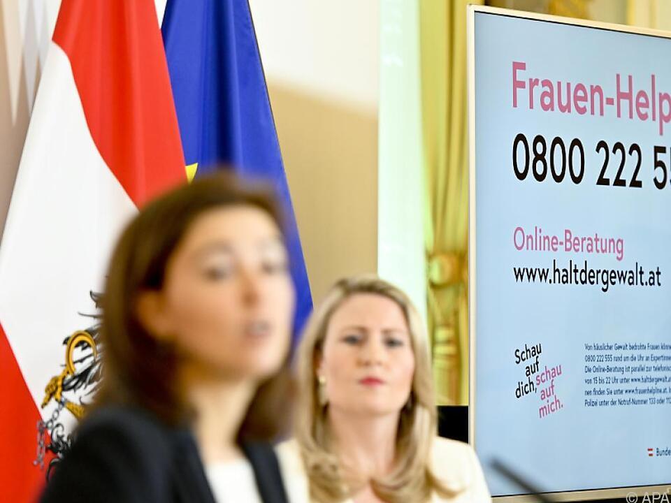 Die beiden Ministerinnen präsentierten ein Maßnahmenpaket