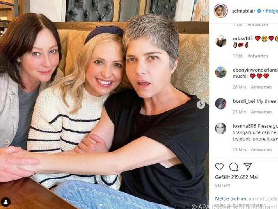 Die drei Frauen sind eng befreundet