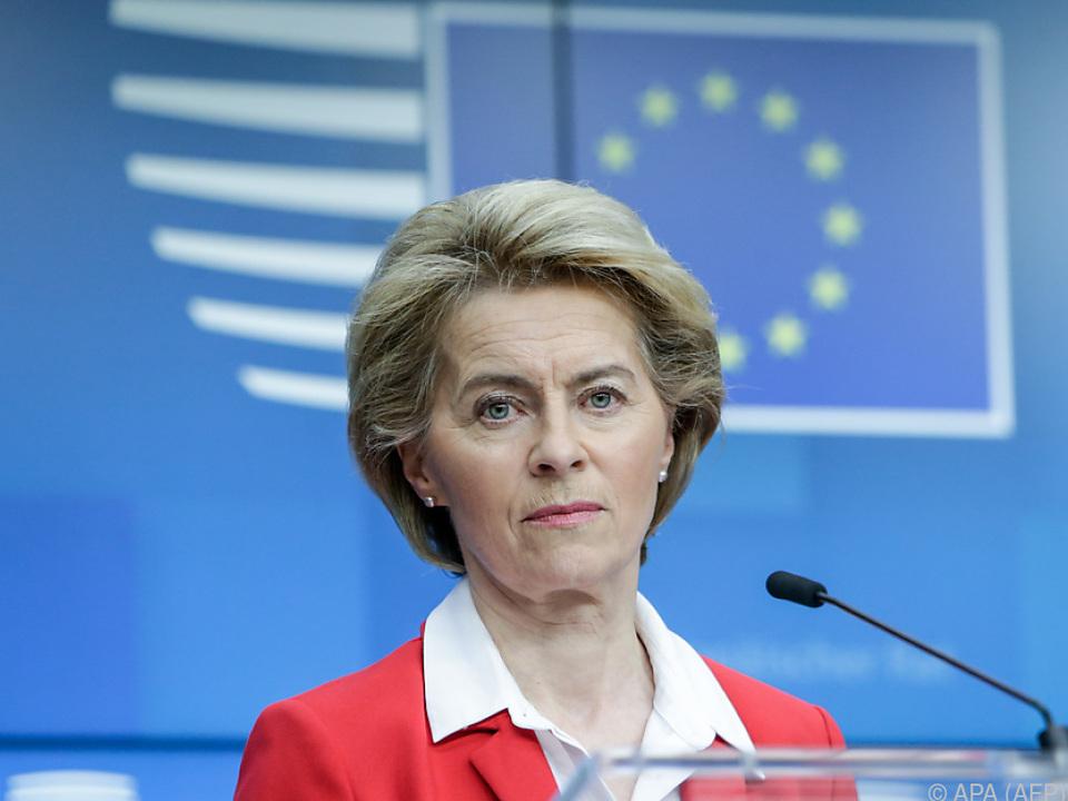 Die EU-Kommissionschefin verkündet die Aufweichklausel