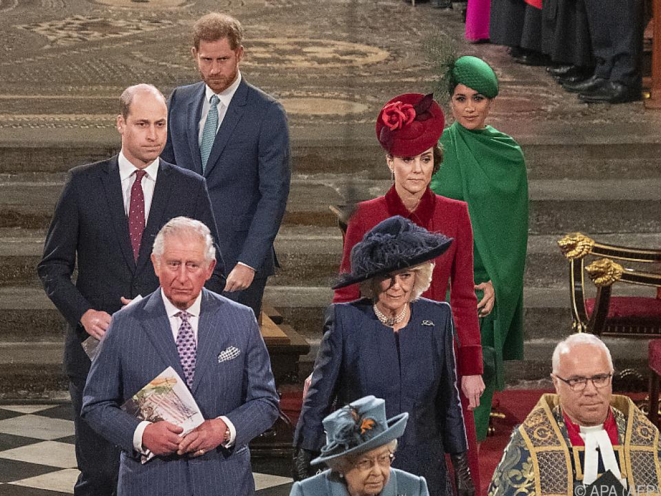 Die royale Familie beim letzten gemeinsamen offfiziellen Termin