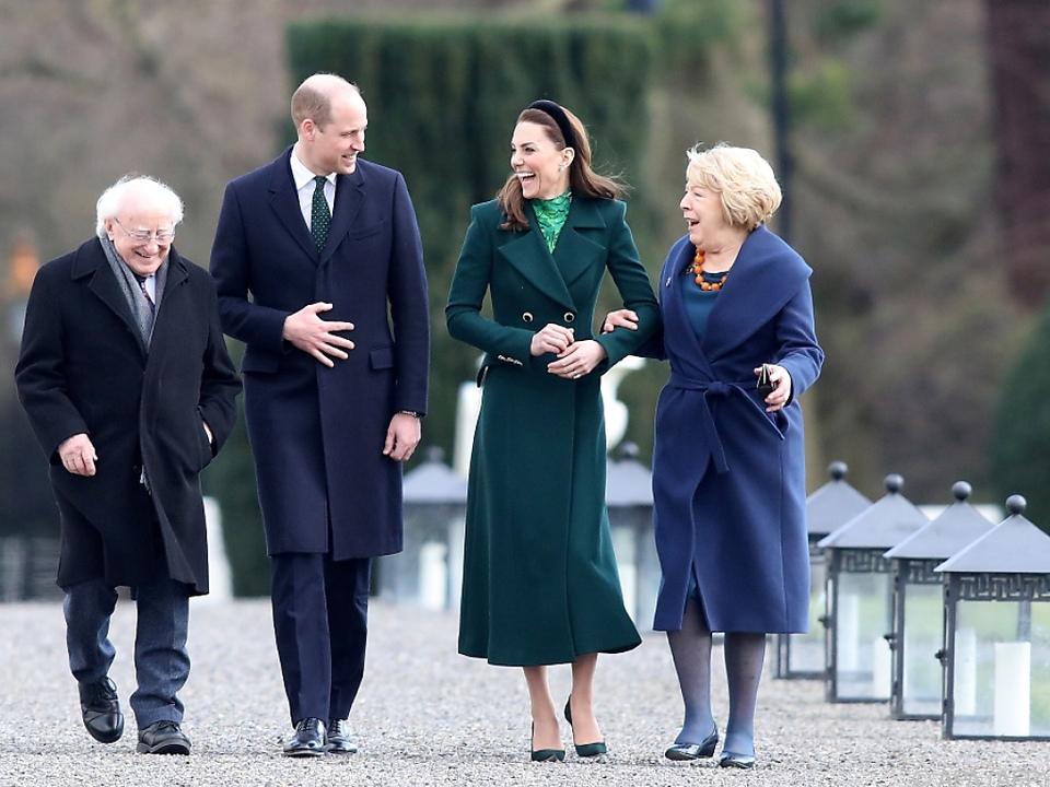 Die Royals wurden herzlich empfangen