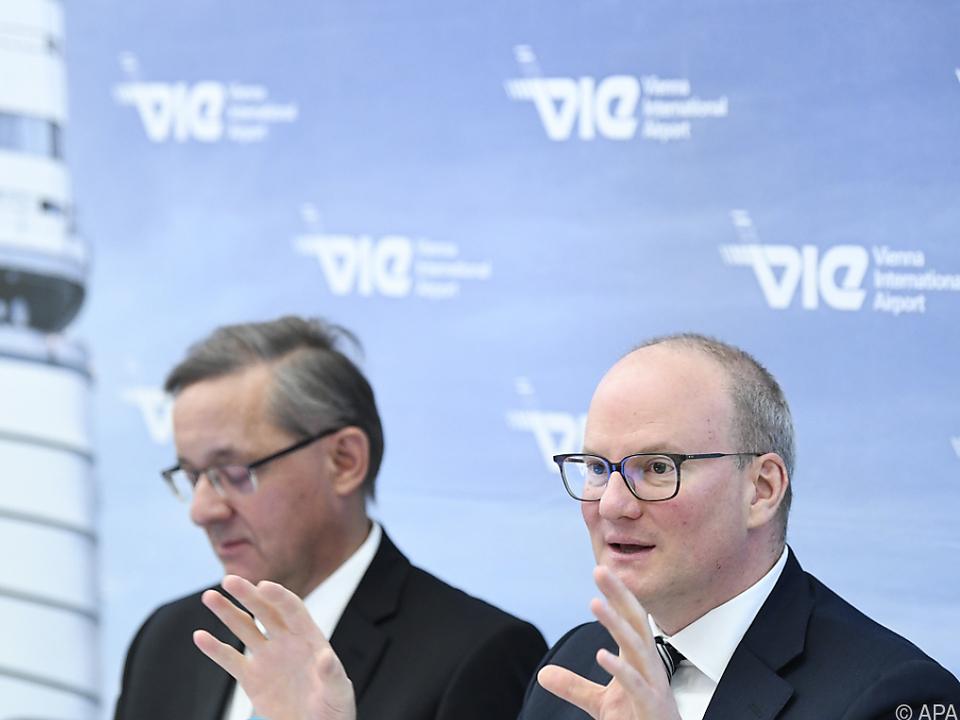 Flughafen-Vorstände Julian Jäger und Günther Ofner