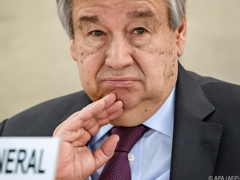 Guterres denkt bereits in Billionen-Summen