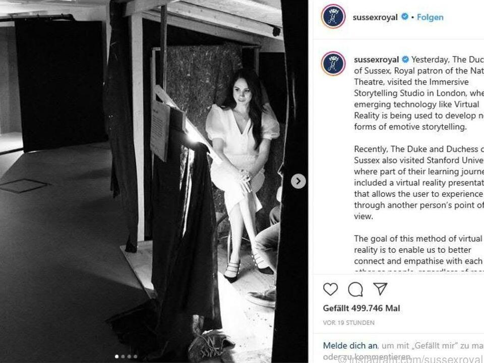 Herzogin Meghan ließ sich Virtual-Reality-Technologie zeigen
