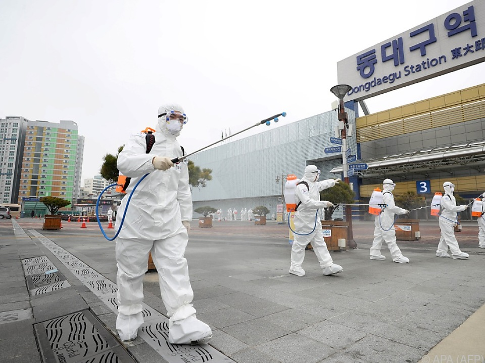 In Südkorea wird jetzt großflächig desinfiziert
