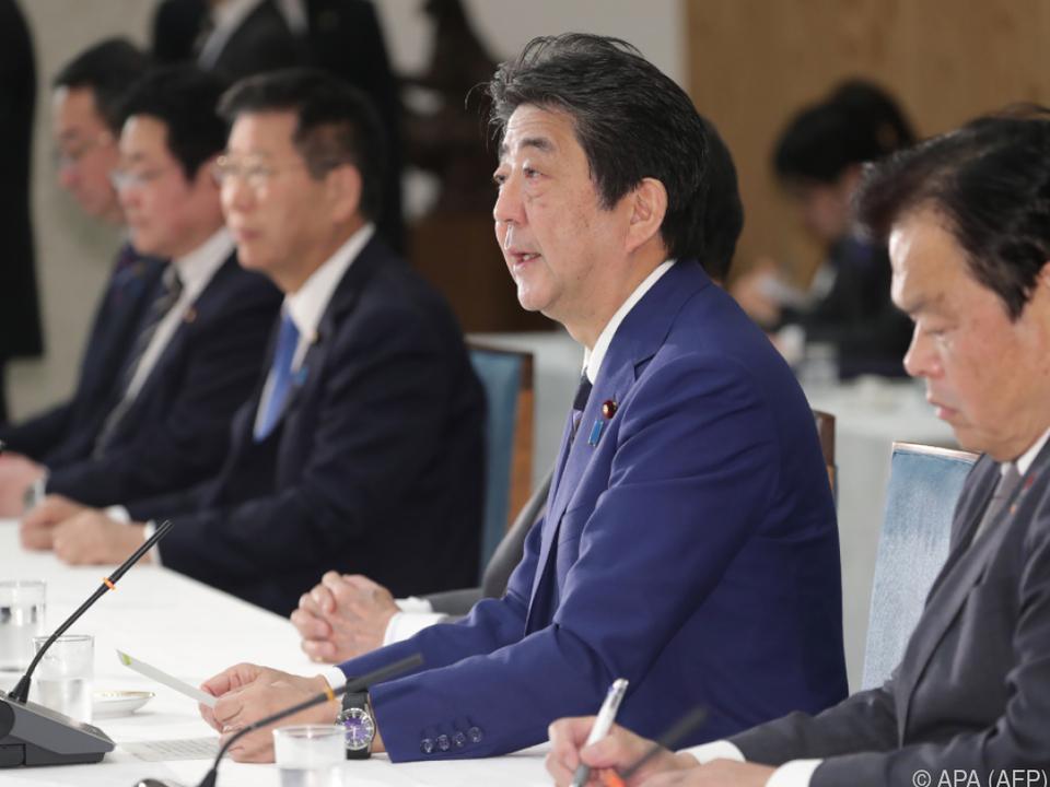 Japans Premierminister Shinzo Abe