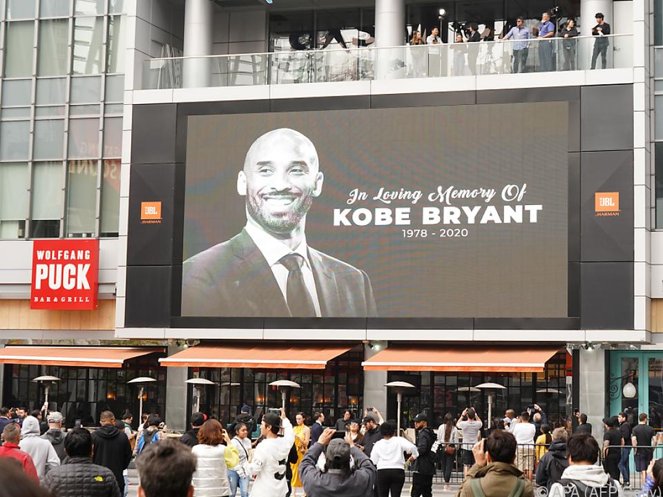Kobe Bryant starb bei einem Hubschrauberabsturz