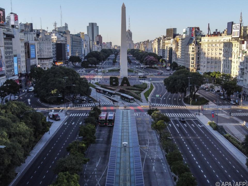 Leere Straßen auch in Argentinien