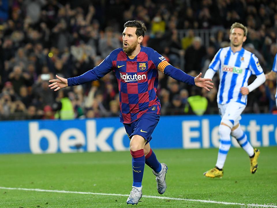Lionel Messi erzielte den Siegtreffer per Hand-Elfmeter