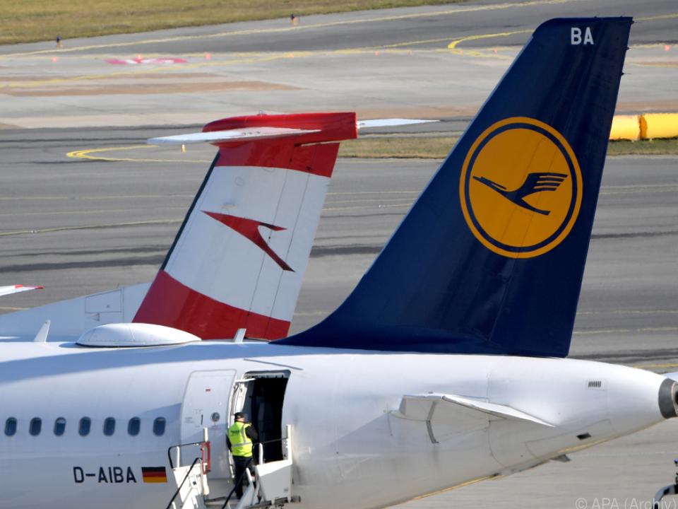 Lufthansa und AUA spüren die Auswirkungen der Pandemie