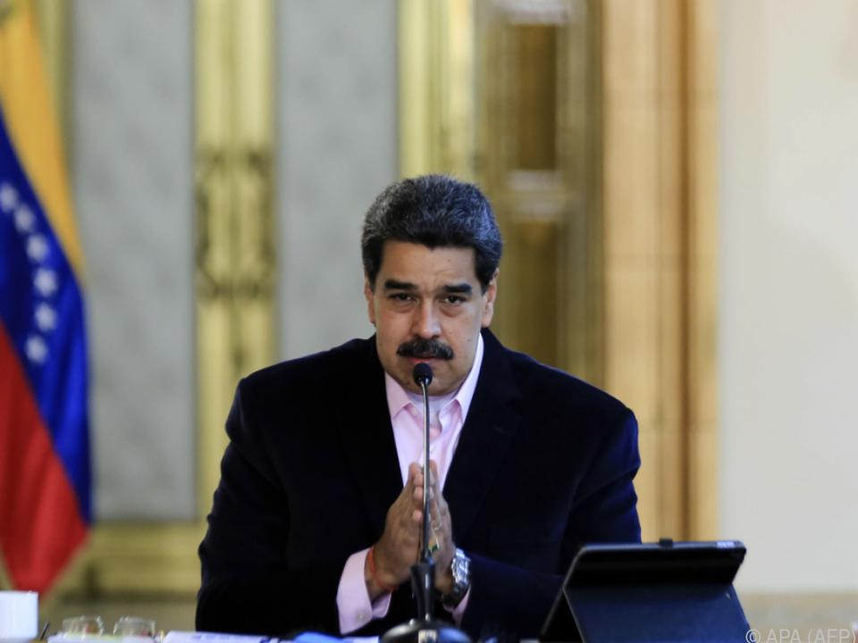 Maduro in seiner Fernsehansprache am Donnerstag