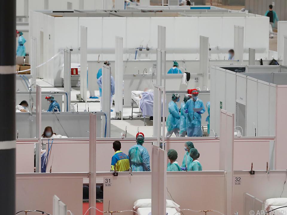 Messegelände in Madrid wurde zu Spital umfunktioniert