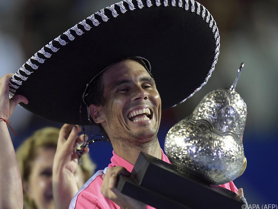 Nadal ließ sich feiern