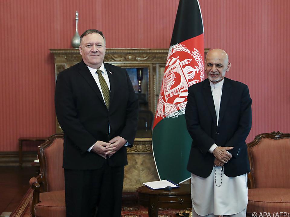 Pompeo traf zuvor u.a. Ashraf Ghani in Kabul
