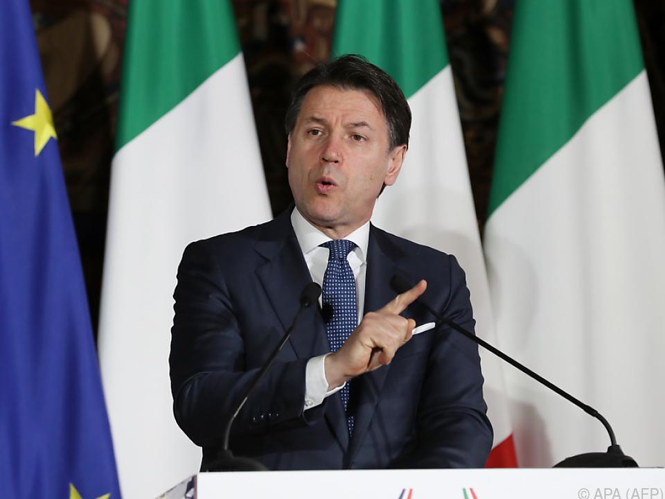 Premier Conte verkündete weitere Maßnahmen