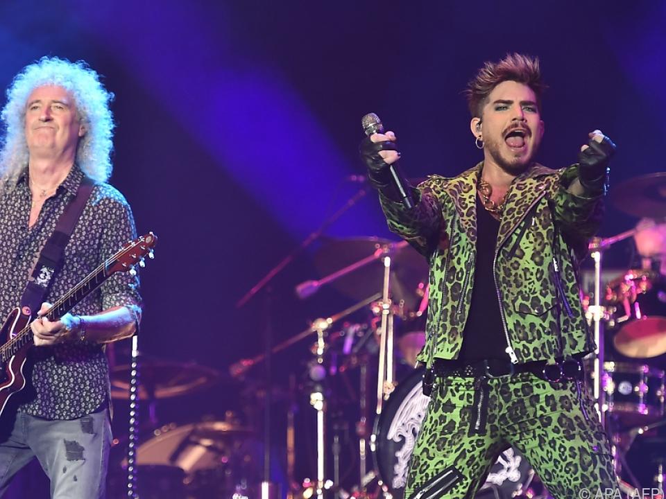 Queen und Adam Lambert bei einem Konzert in Australien