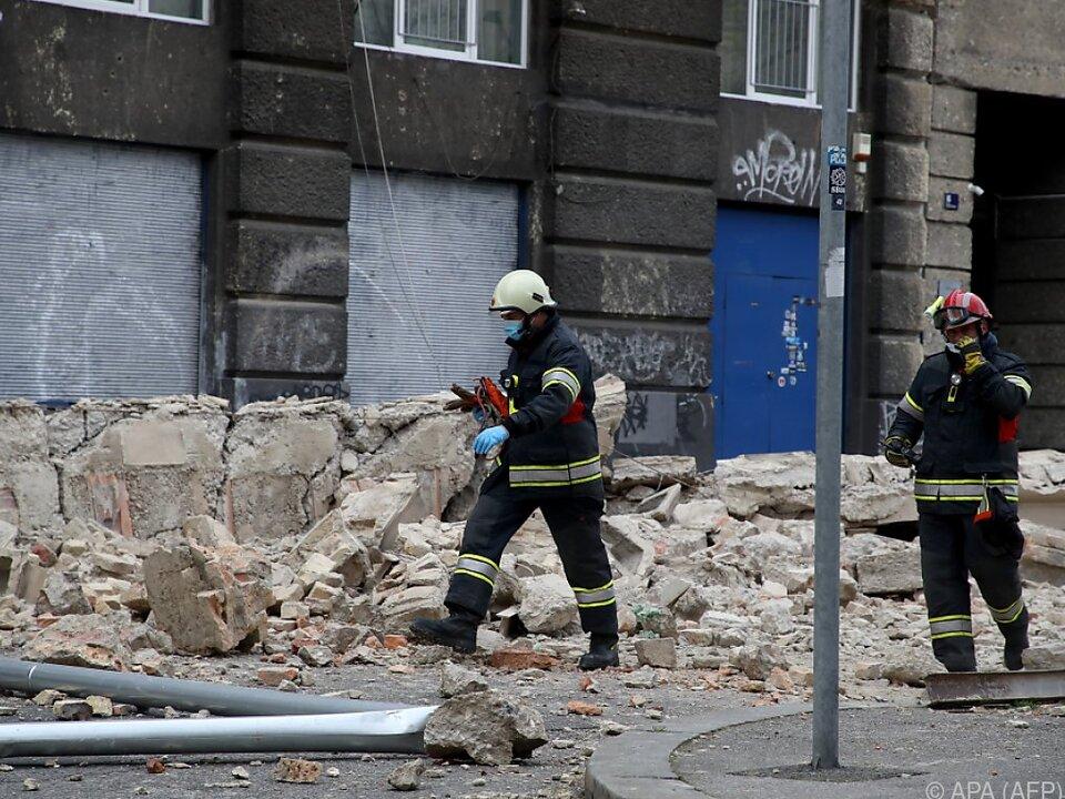 Schwere Schäden in Zagrebs Innenstadt