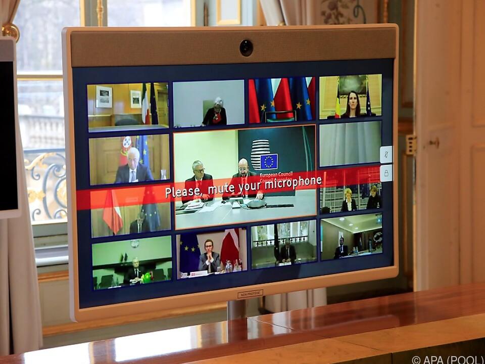 Staats- und Regierungschefs werden sich nur über Bildschirme sehen
