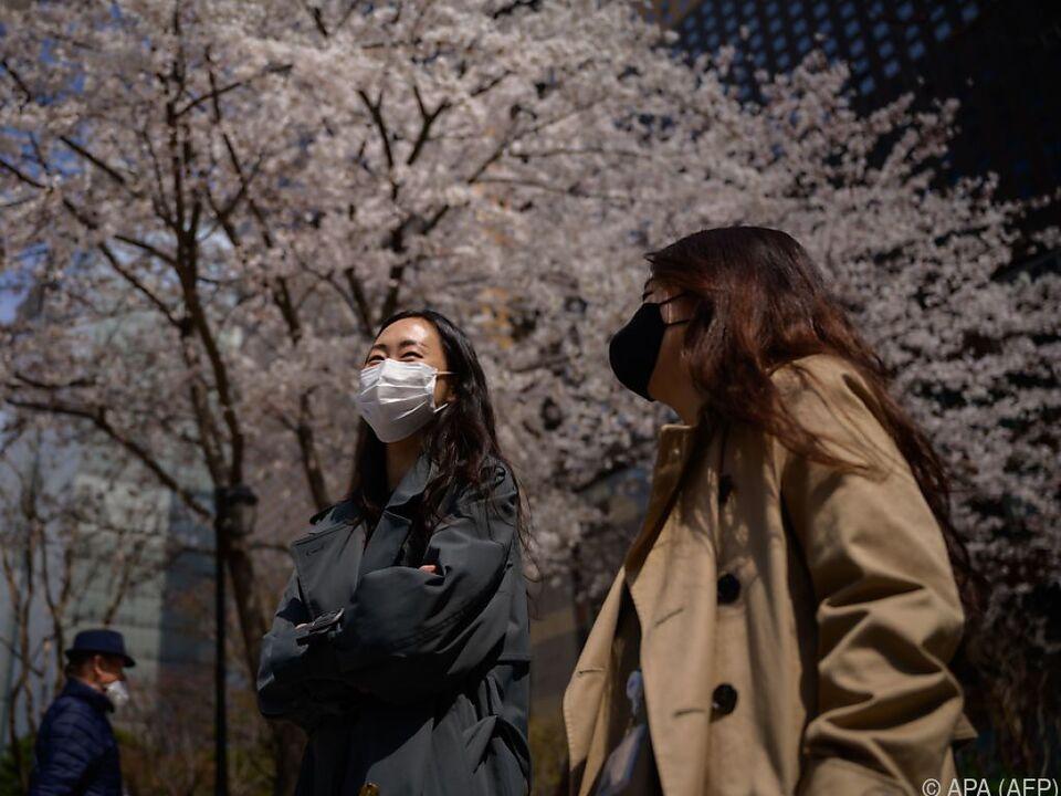 Stetiger Wechsel von an- und absteigenden Zahlen in Südkorea