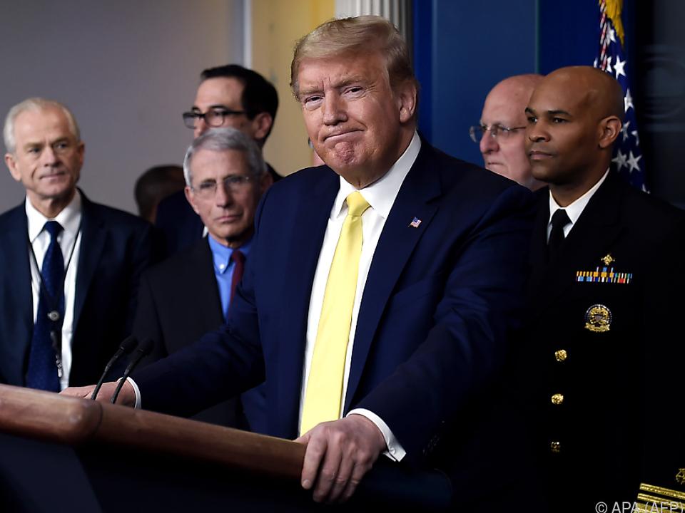 US-Präsident Trump und sein Stab im Kampf gegen das Coronavirus