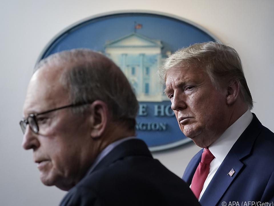 US-Präsident Trump und Wirtschaftsberater Kudlow