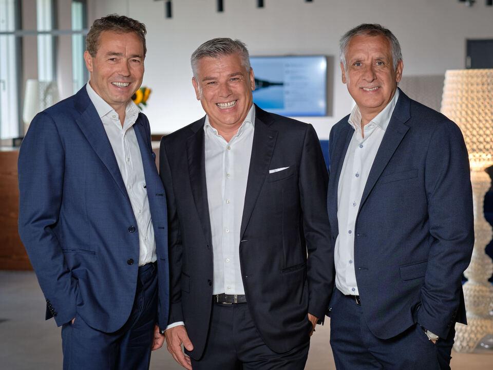 v.l.n.r. Otmar Michaeler, Erich und Andreas Falkensteiner
