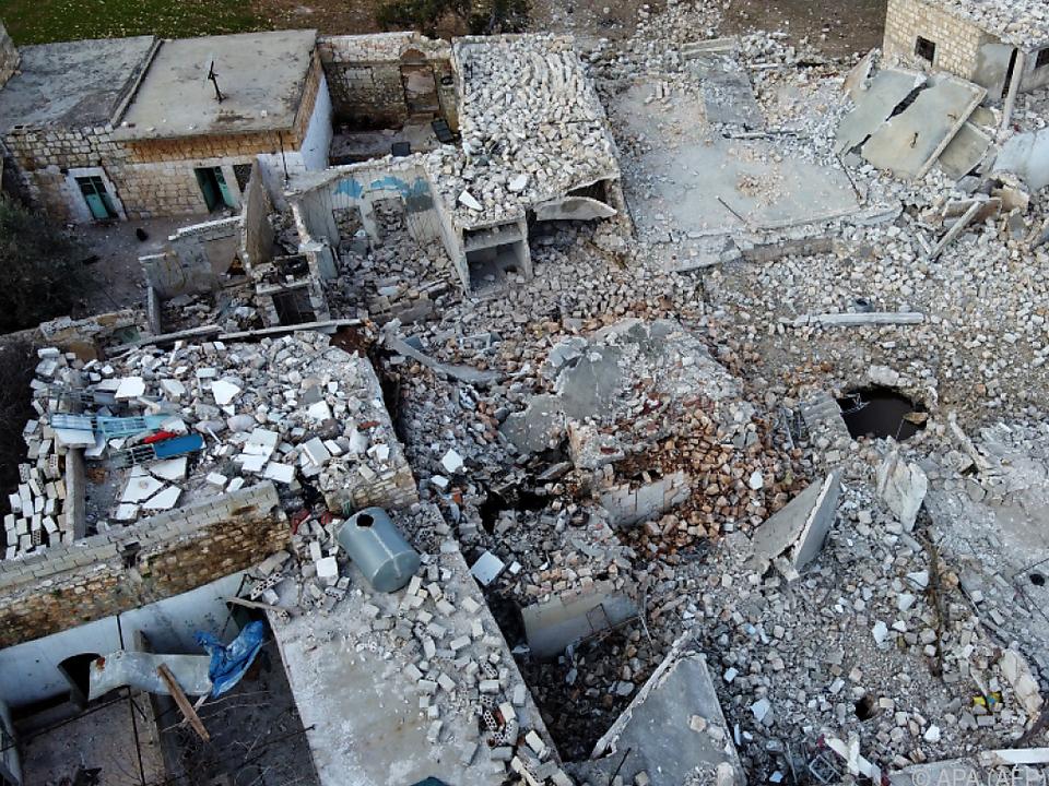 Weite Teile der Region Idlib sollen unbewohnbar sein