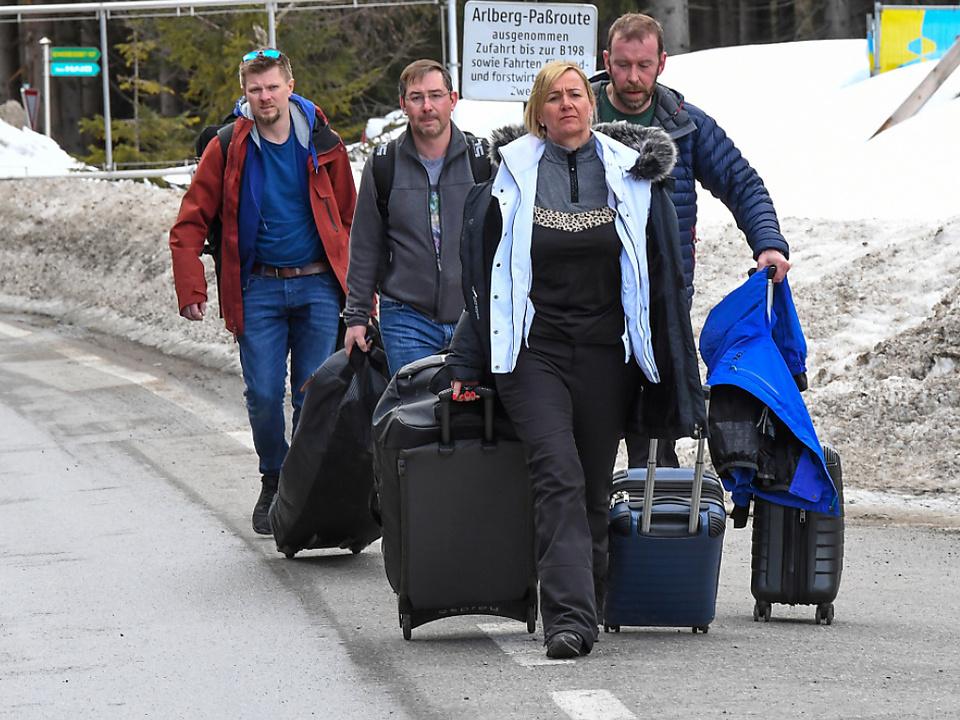 Zahlreiche Gäste mussten das Paznauntal überraschend verlassen