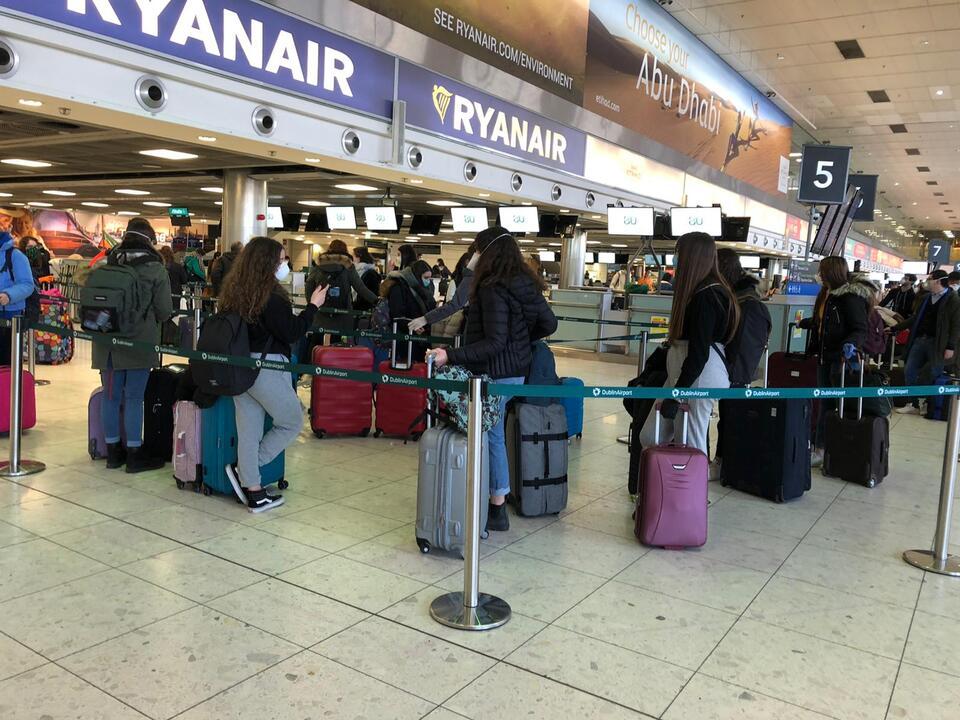 Flughafen Region Auslandsstudenten