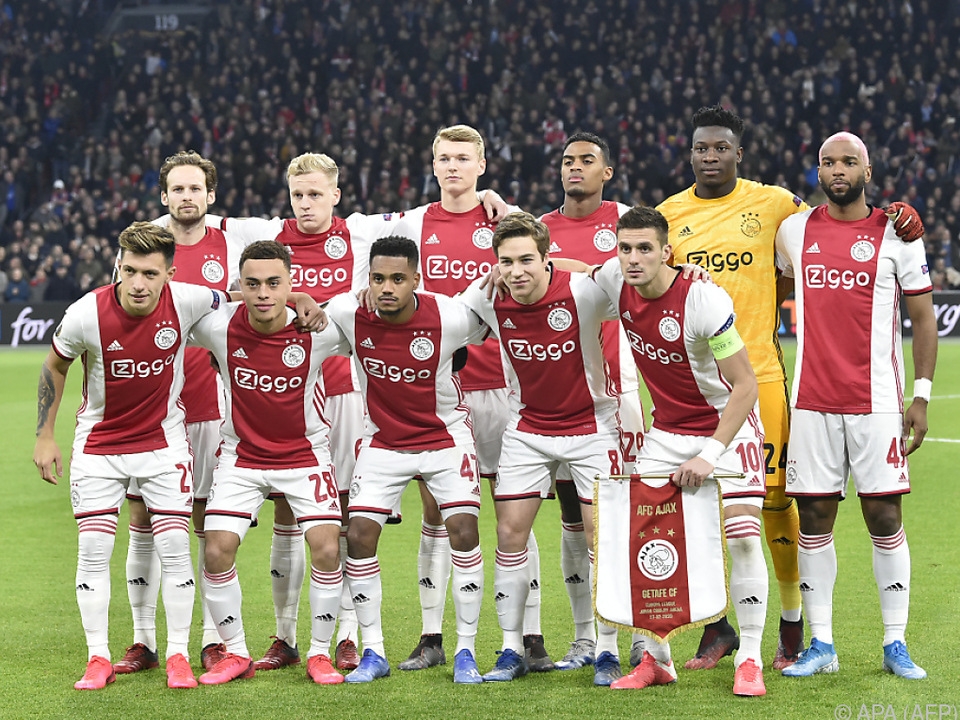 Ajax ist für die Champions League gesetzt