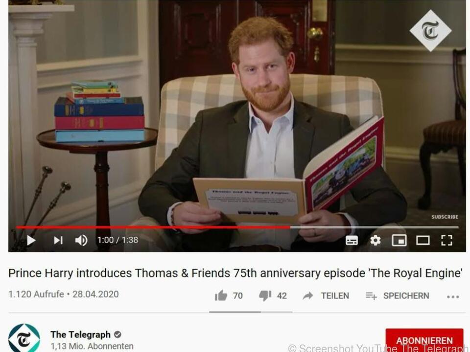 Auch Prinz Harry wuchs mit der kleinen Lokomotive Thomas auf