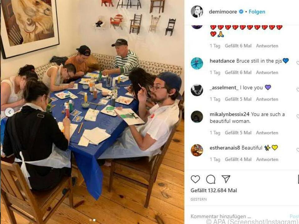 Auf Instagram postet Demi Moore immer wieder Bilder aus der Quarantäne