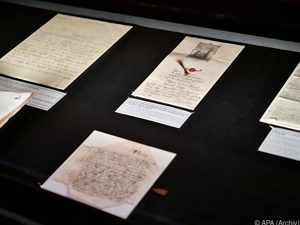Bereits mehrere Briefe in der Sammlung der Stiftung Mozarteum