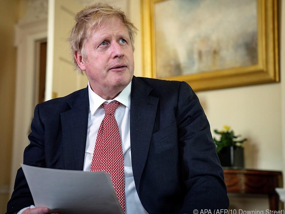 Boris Johnson meldete sich per Videobotschaft zu Wort