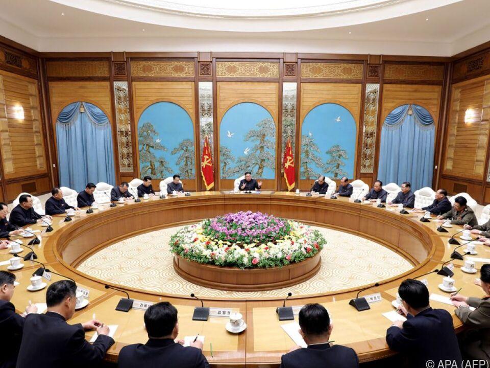 Das Politbüro der kommunistischen Partei tagte