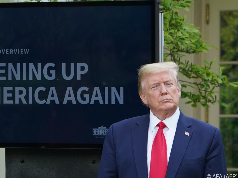 Trump hofft auf Erholung der Wirtschaft