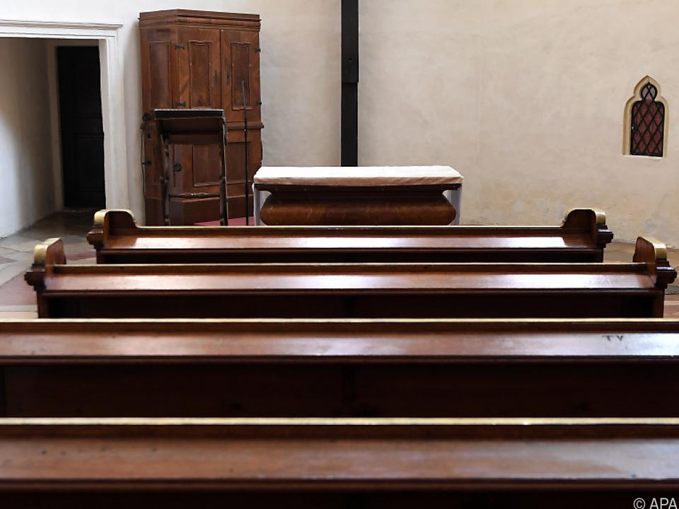 Kirche sym Die Kirchen bleiben derzeit leer