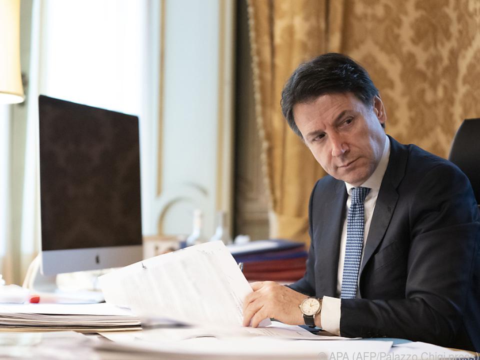 Italiens Premier drängt auf Coronabonds